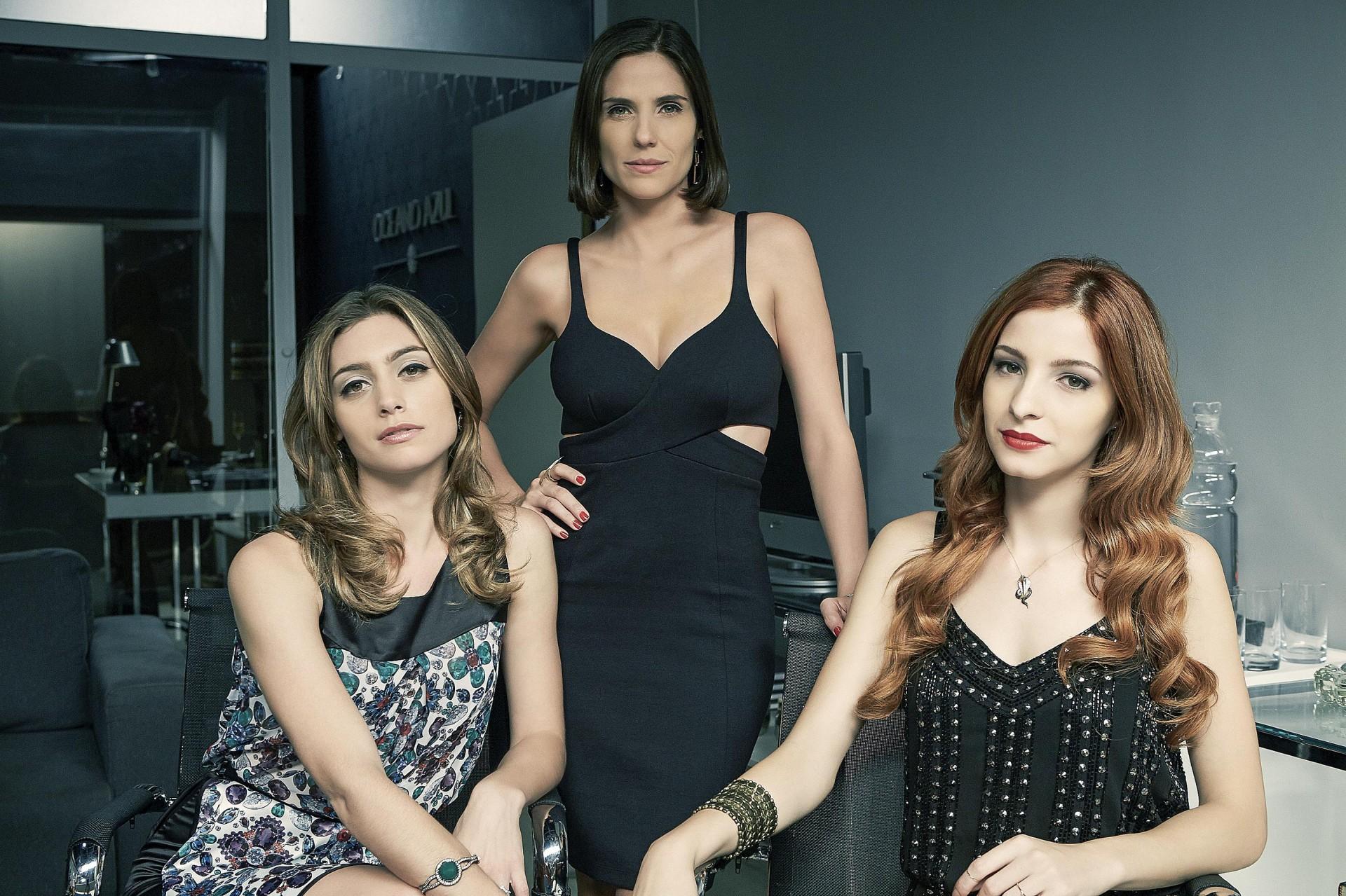 Rafaela Mandelli, Juliana Schalch e Michelle Batista, da esquerda para a direita.